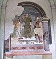 Arezzo, sant'agostino, interno, san bernardino tra i santi girolamo e ignazio d'antiochia (1498).JPG