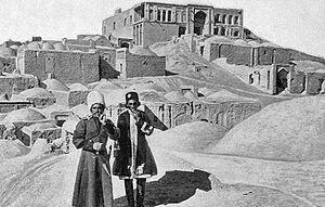Birjand - Cossacks in Birjand, circa 1909.