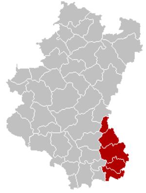 Arrondissement of Arlon - Image: Arrondissement Arlon Belgium Map