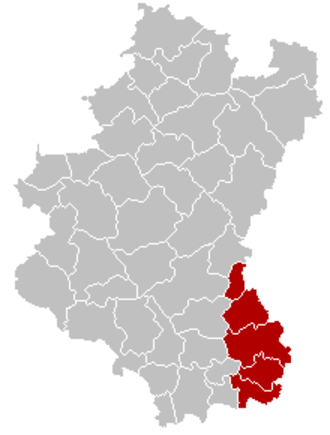 Arrondissement of Arlon - Image: Arrondissement Arlon Belgium Map