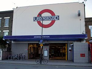 Arsenal tube station - Station entrance