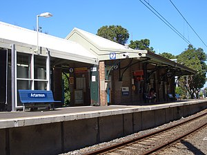 Artarmon railway station - Northbound view in January 2007