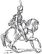 Artigliere a cavallo della Vecchia Guardia Adolphe de Chesnel