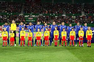 Football in Azerbaijan - Azerbaijan national football team in October 2010.