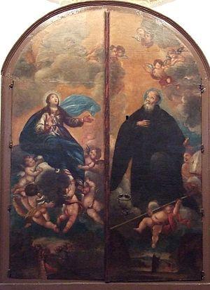 Íñigo of Oña - Assumption of the Virgin Mary and Saint Íñigo by Francisco de Goya y Lucientes