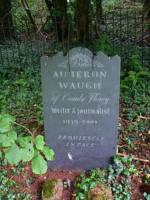 Auberon Waugh - Auberon Waugh's grave in Church of St Peter & St Paul, Combe Florey.