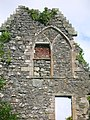 Auchans Castle East Gable with traceried window.JPG