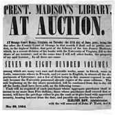 Auction President James Madison's Library