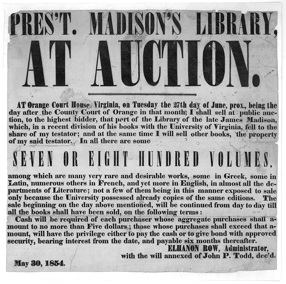Auction President James Madison%27s Library