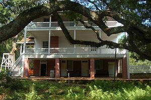 Audubon State Historic Site - Image: Audubon State Historic Site Oakley Plantation Rear View