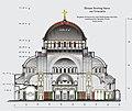 Aufriss und Mosaikflächen Dom des Heiligen Sava.jpg