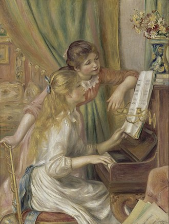 Girls at the Piano - Image: Auguste Renoir Young Girls at the Piano Google Art Project