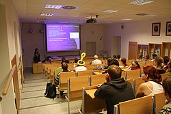 Aula of department of Physics of Faculty of Science of MUNI in Brno, Brno-City District.jpg