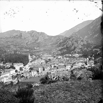 Ax-les-Thermes - View of the commune in 1910