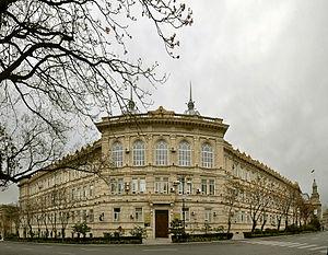 Azerbaijan State University of Economics - Building of Azerbaijan State Economic University in Istiglaliyyat Street