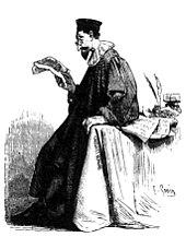 L'avvocato Azzecca-garbugli nell'illustrazione di Francesco Gonin a I promessi sposi di Manzoni