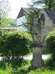 Sochy svatého Vendelína a svatého Floriána