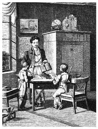 Bildungsbürgertum - The Bildungsbürger class defined itself more on the basis of education than material possessions and thus great emphasis was laid upon the education of the children.