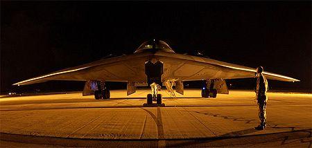 Un B-2 de nuit à Guam