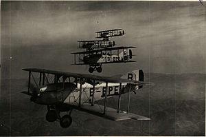 Potez 15 - Potez 15s in flight over Bulgaria, c. 1930.
