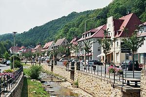 Bad Gottleuba-Berggießhübel - Main street in Berggießhübel