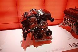 BMW S14 B25 photo 2 engine in BMW-Museum in Munich, Bayern.JPG
