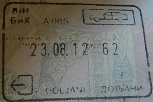 Visa policy of Bosnia and Herzegovina - Image: BOSNIA DOLJANI exit stamp