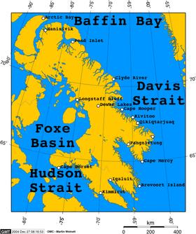 Carte de l'île de Baffin