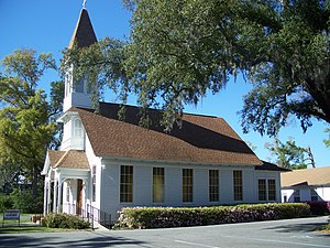 National Register of Historic Places listings in Santa Rosa County, Florida - Image: Bagdad Hist Dist 1st Meth Church 01