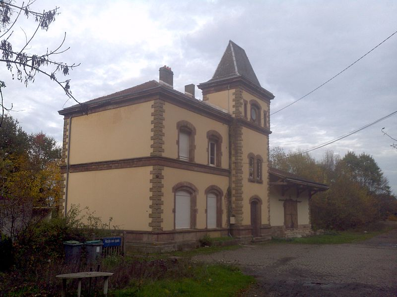 Railway Station, road-side, at Ébersviller, France