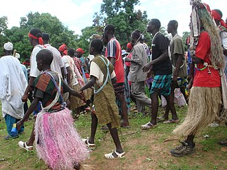 Ethnic groups in Senegal - On the way to a boukout in Baïla in Jola country