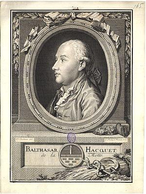 Belsazar Hacquet - Belsazar Hacquet (1777 copper engraving)