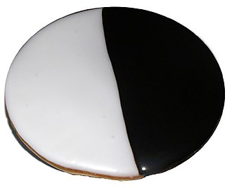 Cuisine of New York City - Black and white cookie