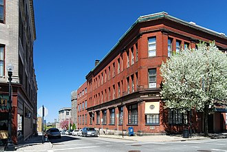 Downtown Fall River Historic District - Bank Street, Downtown Fall River