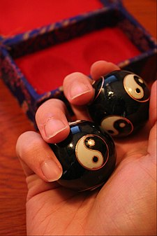 Baoding balls Baoding Balls in Use.JPG