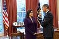 Barack Obama and Kimberly Teehee, 2012-04-27.jpg