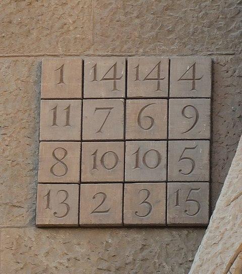 Barcelona Sagrada Familia passion facade magic square