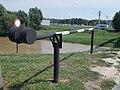 Barrier, flood defense embankment, Rába, 2020 Sárvár.jpg