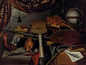 Bartolomeo Bettera - Still Life with Musical Instruments.