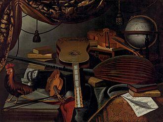 Bartolomeo Bettera - Still Life with Musical Instruments.