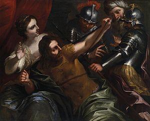 Bartolomeo Biscaino - Samson and Delilah by Bartolomeo Biscaino, 1657