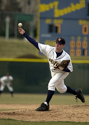 Baseball stirrups - A U.S. Naval Academy pitcher wearing stirrups