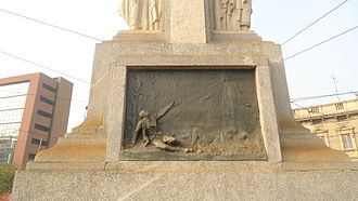 War Memorial of Musocco - From south: the death of a soldier