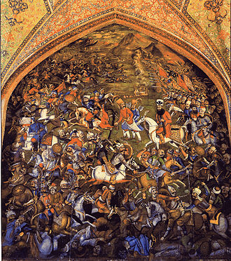 Selim I - Selim I at the Battle of Chaldiran: artwork at the Chehel Sotoun Pavilion in Isfahan
