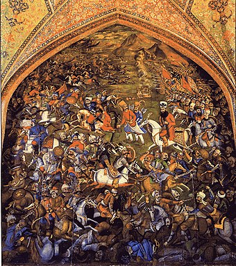 Artwork of the Battle of Chaldiran. Battle of Chaldiran (1514).jpg