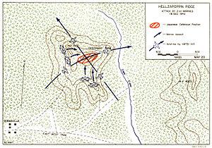Battle of Hellzapoppin Ridge map 18 Dec 43