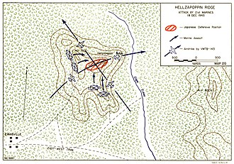 Battle of Hellzapoppin Ridge and Hill 600A - Dispositions of US forces during the final attack on Hellzapoppin Ridge