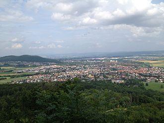 Baunatal - Baunatal seen from Burgberg