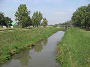 Bednja (river) - The Bednja in Ludbreg.