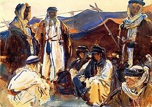 Otaibah - Image: Bedouin camp 1906